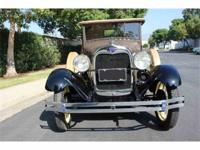 1929 FORD MODEL A RUMBLE SEAT ROADSTER This 1929 Ford