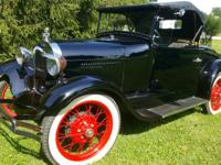 1929 Ford Model A Frame was powder coated black in