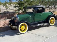 1929 FORD MODEL A ROADSTER. 100% HENRY FORD, IT IS 100%