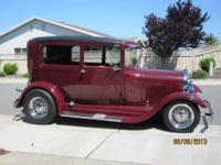 1929 Ford Tudor in Excellent Condition Madeira Red