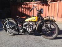 1929 101 indian scout500 miles on restoration 1932 cam