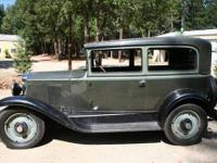1929 Two Door Chevy for sale. Excellent condition