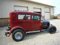 1929 Ford Model A, 2 dr. sedan, power glide with