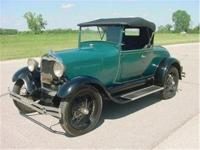 1929 Ford Model A roadster. Original Colorado car owned