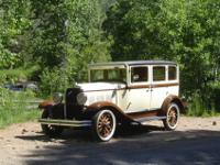 This is a 1930 DeSoto k6 4 door sedan in great running