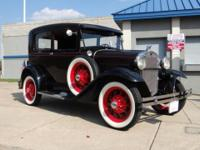 1930 Ford Model A - 2 Door Sedan. Maroon/ Black