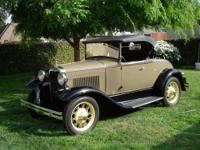 "1930 Ford Model A ""Roadster"". This original California"