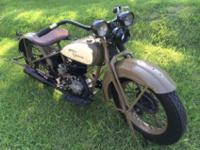 very rare 1930 Model C Single 30.5 ci 500cc. This