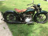 1930 Harley Davidson Flathead V 1200 3 speed. Bikes is