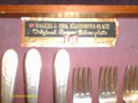 1930`s/1940`s Silverware set--28 pieces. Maker: ROGERS