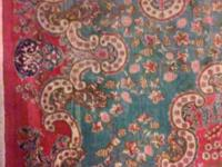 Beautiful handmade Persian rug, very large about 1214,