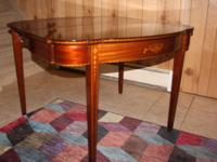 Handsome antique inlaid solid mahogany Herman Miller