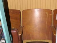 1930's theater style seating for sale  Leather
