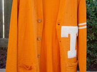 Rare Tennessee Vols Early 1930s Football Cardigan