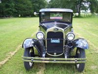 1931 A MODEL FORD 5 Window Black Coupe Original