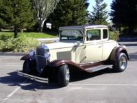 1931 5 window chevy coupe. It has a 327 chevy engine
