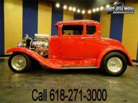 1931 Ford Model A hot rod. This is one hot coupe! New