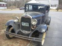 1931 Ford Model A 2 Door; Needs a new paint job,