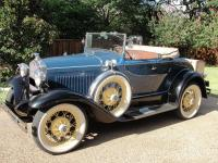 1931 Ford Model A Roadster Deluxe Manual Blue.  This is