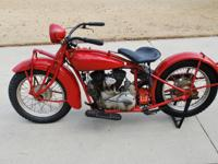 1931 Indian Scout . This bike was restored back in the