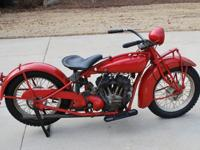 1931 Indian Scout . This bike was partially restored