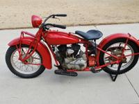 Offering for sale my 1931 Indian Scout. This bike was