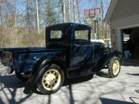 A super clean 1931 Model A for Pickup Truck. Runs