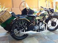 This exquisite 1932 BSA 500cc W32-6 was restored by