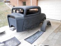 32 Ford 3 Window Coupe full fiberglass body kit.