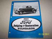 New copy of 1932 Ford Judging & Restoration Standards