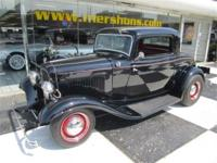 1932 Ford 3 Window Coupe All Henry Ford Steel. Black