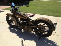 1932 Harley Davidson VL in very nice, riding condition.