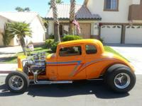 33 CHEVY STEEL BODY 5 WINDOW COUPE, NEEDS A LITTLE