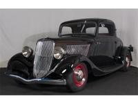 This 1933 Ford Deluxe Three Window Coupe with 180 miles