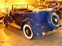 A very rare 4 door phaeton which has been in storage
