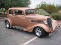 1933 Ford Model 40 Victoria Gold Exterior, Brown