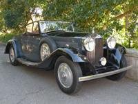 1933 Rolls Royce 20.25 Drophead Coupe with top