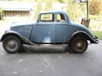 1933 Willys Rumble Seat Coupe. All Steel, Rust Free. I