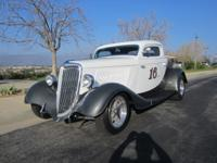 1934 Ford 3-window coupe, Real Car, all steal, 350/350,