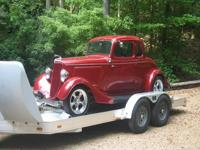 1934 Ford Steel body coupe. Pearl wild cherry, chrome