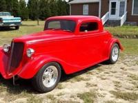 1934 Ford Coupe for sale (NC) - $45,000. Red Metal
