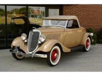 This beautiful 1934 Ford Rumble Seat Deluxe Roadster is