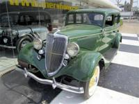 1934 Ford 4 Door SedanAll Henry Ford Steel. Green with