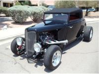 1934 Ford streetrod Cabrolet. Fresh build; test miles;