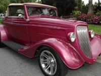 1934 Ford Street Rod Convertible Automatic.  THIS IS A