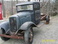 1934 Ford truck cab and chassis. This old truck has a