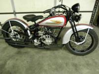 """1934 Harley Davidson CB single cylinder 30.50"""" (500cc)."""
