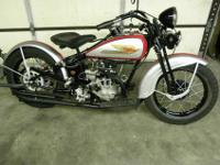 Up for auction is a 1934 Harley Davidson CB single