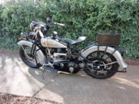 "Nicely Restored 1934 Harley-Davidson VLD "" Police Model"