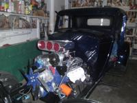 34 Plymouth PE 5 window Coupe. Mustang 2 front end and